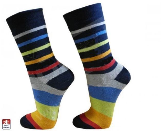 8a9a501b3d9 ZOBRAZIT DETAIL. Ponožky PONDY dámské froté PRUHY různobarevné